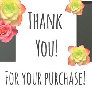 Thank you for your purchase from this closet!